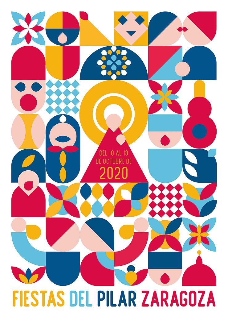 cartel fiestas del Pilar Zaragoza 2021